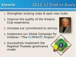 2012 13 district goals