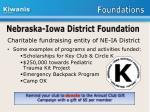 nebraska iowa district foundation
