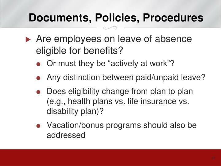 Documents, Policies, Procedures