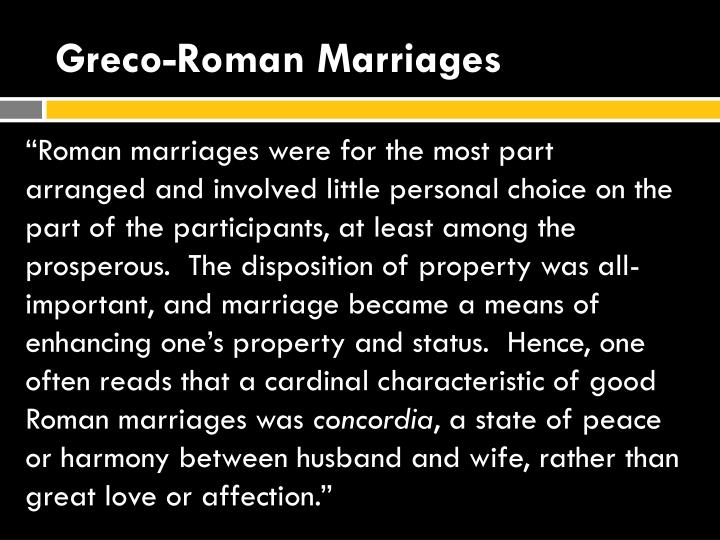 Greco roman marriages