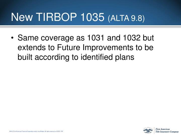 New TIRBOP 1035