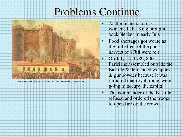 Problems Continue