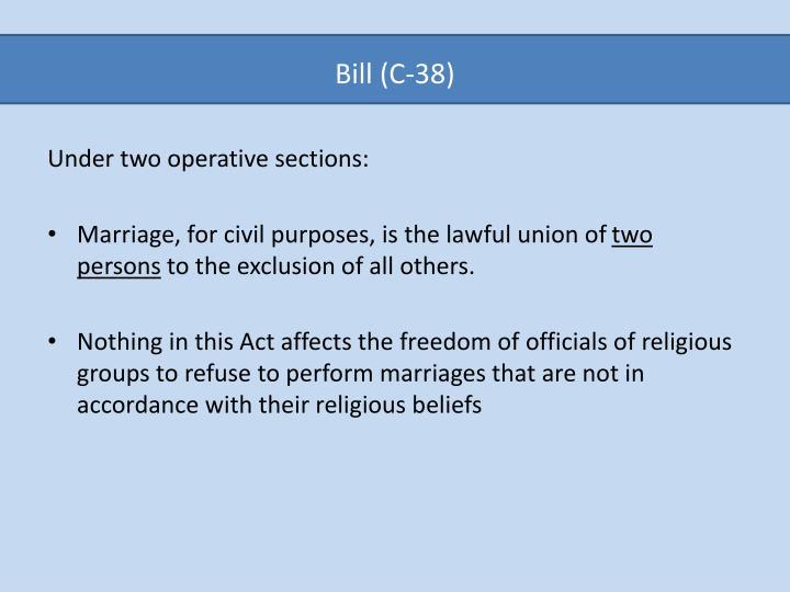 Bill c 38