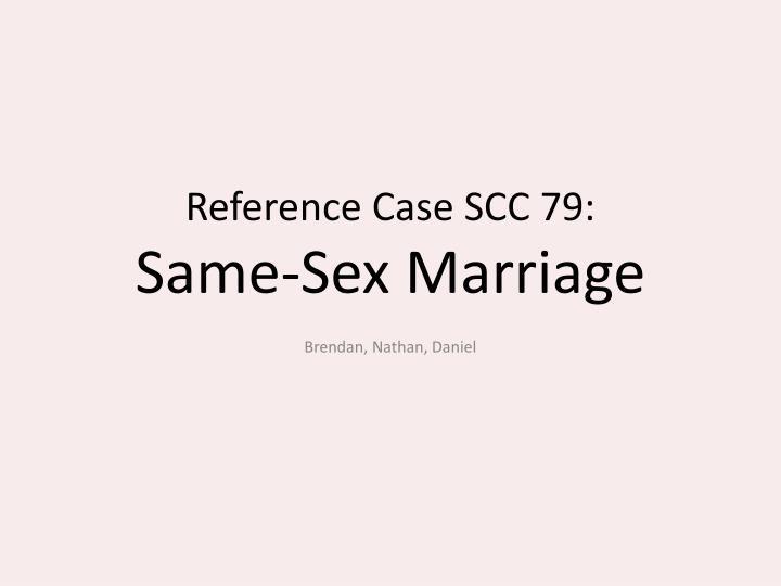 Reference Case SCC 79: