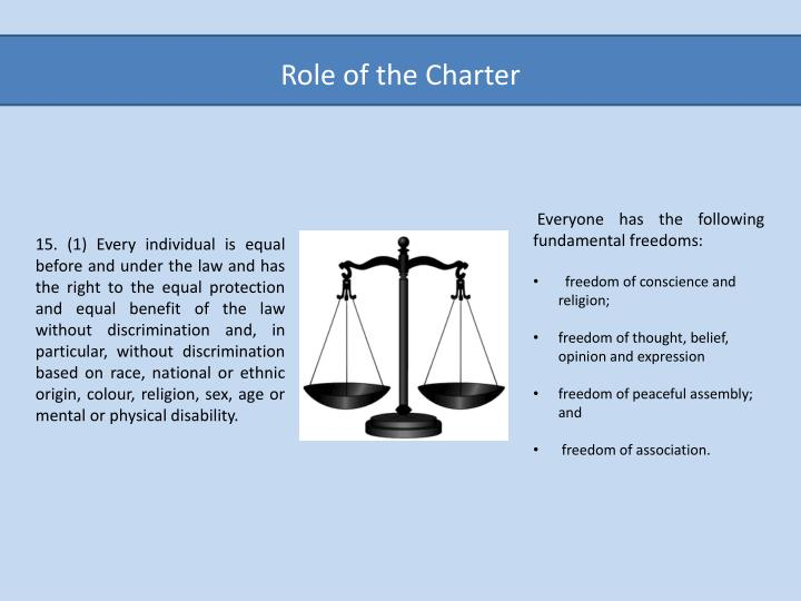Role of the Charter