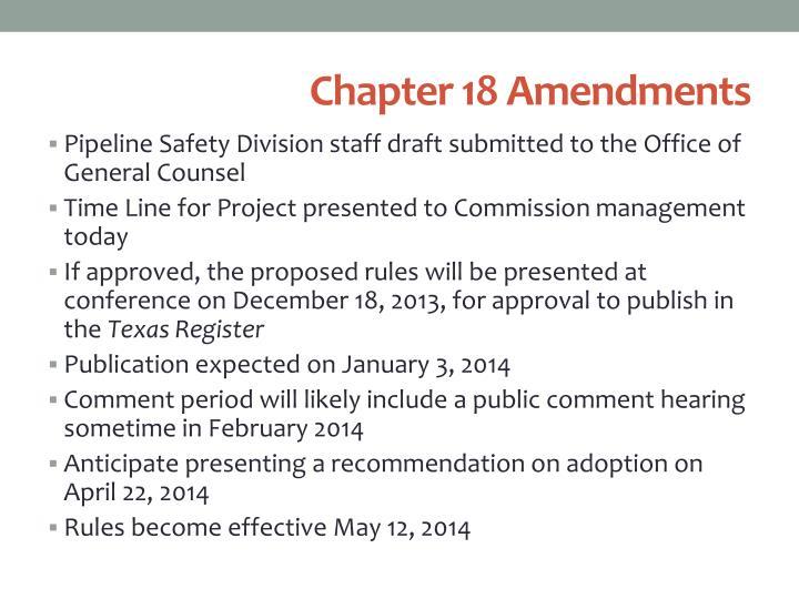 Chapter 18 Amendments