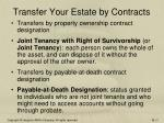 transfer your estate by contracts1