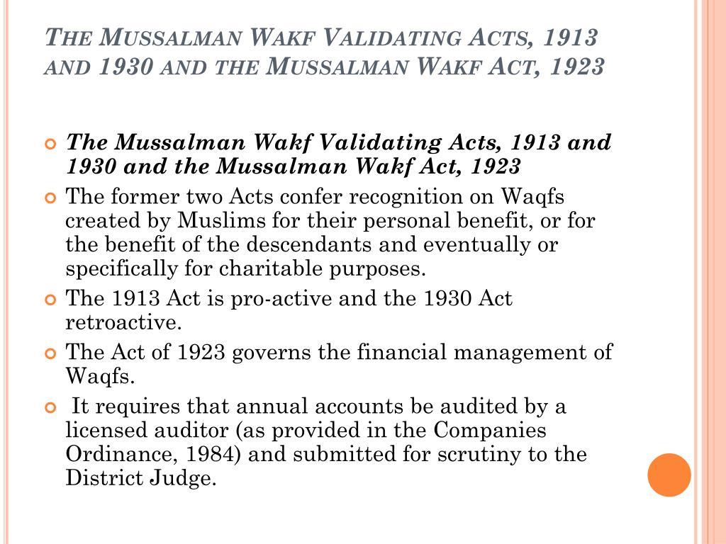 Mussalman wakf validating act 1913 santa match dating