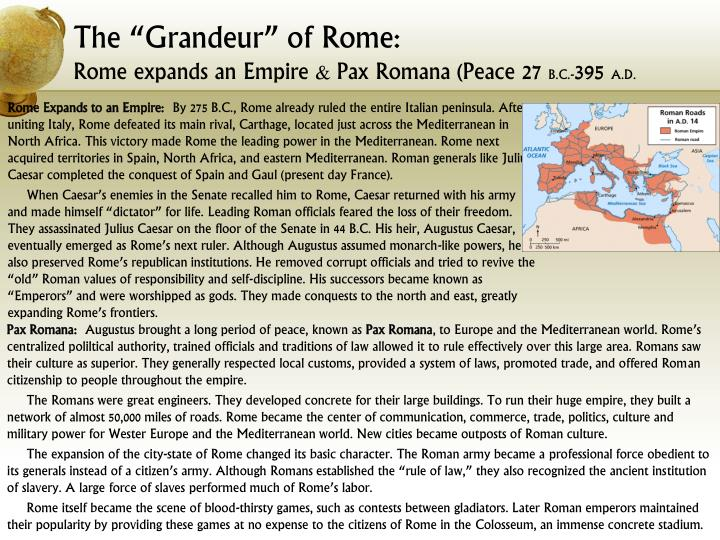 an examination of rome during the pax romana period