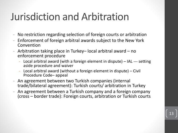 Jurisdiction and Arbitration