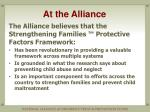 at the alliance