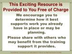 this exciting resource is provided to you free of charge