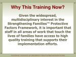 why this training now