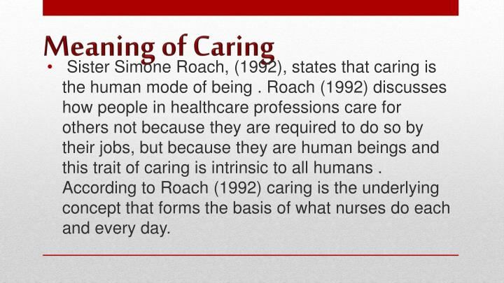 Meaning of caring