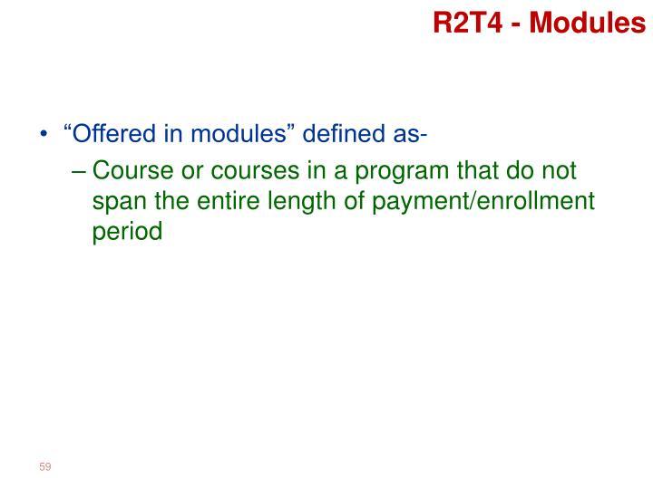 R2T4 - Modules