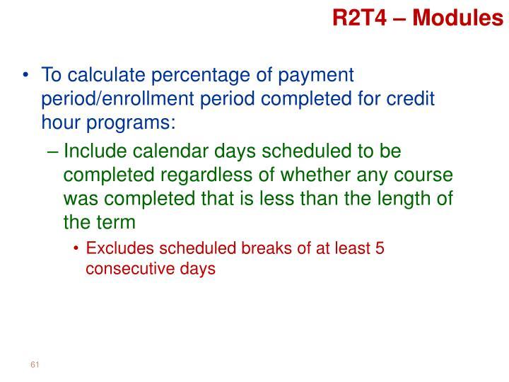 R2T4 – Modules
