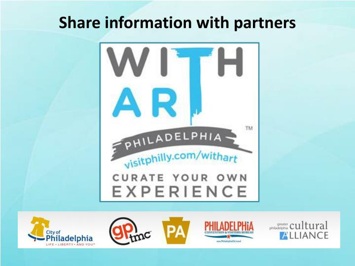 Share information with partners