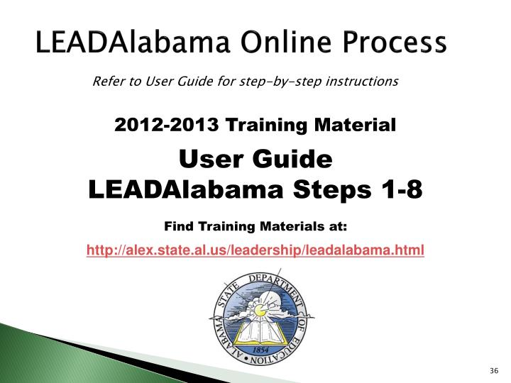 LEADAlabama Online Process