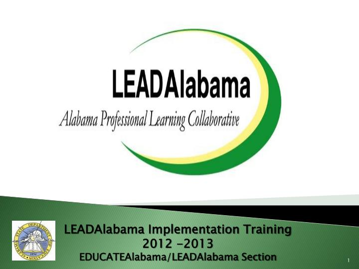 LEADAlabama Implementation Training