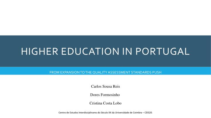 higher education in portugal