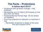 the facts protections