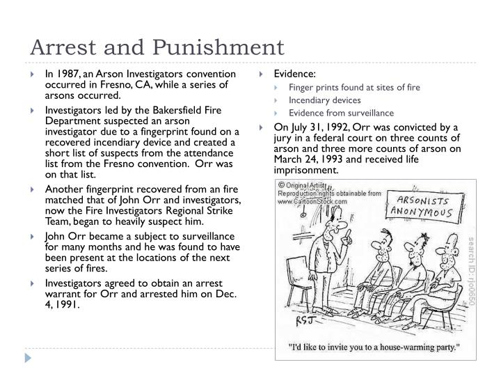 Arrest and Punishment