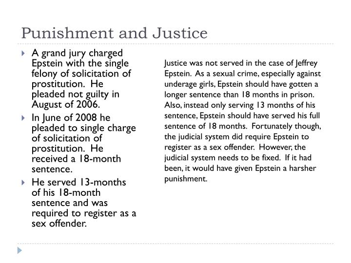 Punishment and Justice