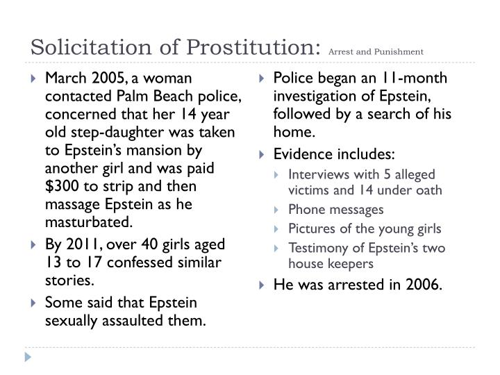 Solicitation of Prostitution: