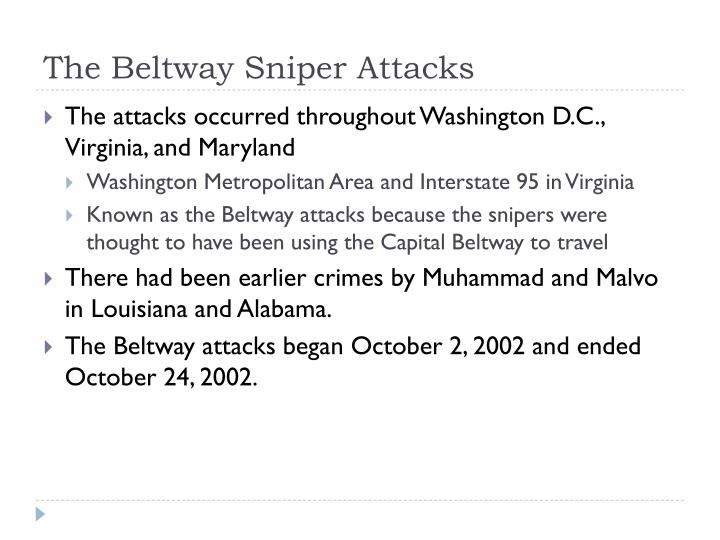The Beltway Sniper Attacks