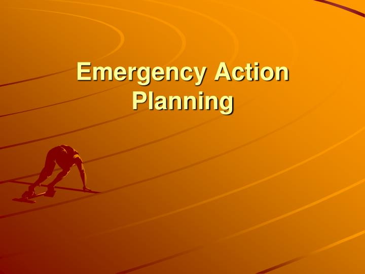 emergency action planning n.