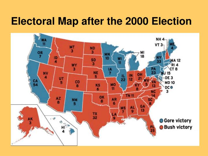 Electoral Map after the 2000 Election