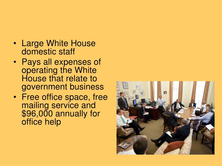 Large White House domestic staff