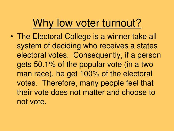 Why low voter turnout?