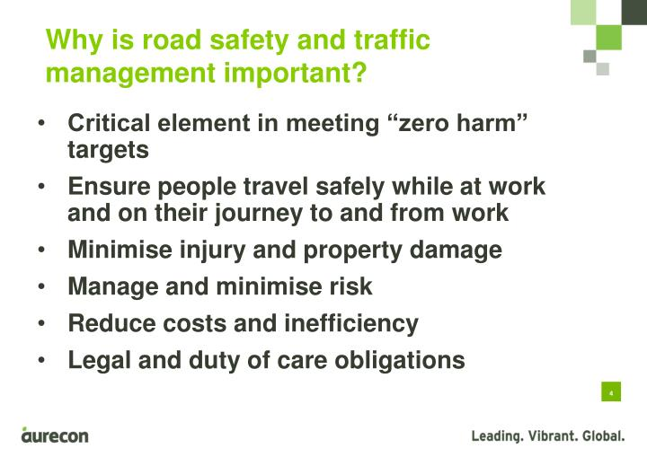 Why is road safety and traffic management important?