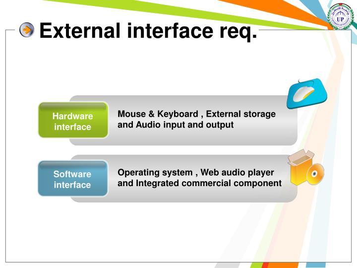 External interface req.