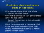 conclusions about speed camera effects on road trauma