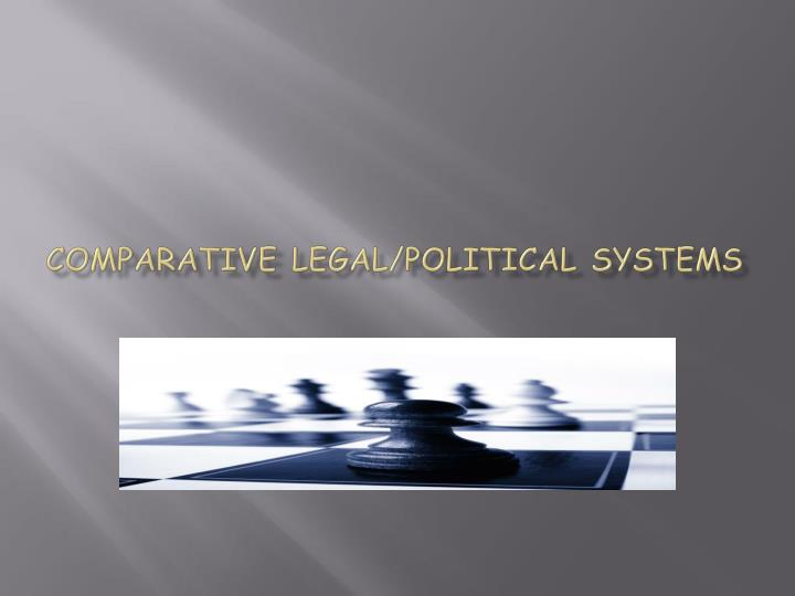 comparative legal political systems n.