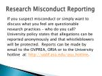 research misconduct reporting