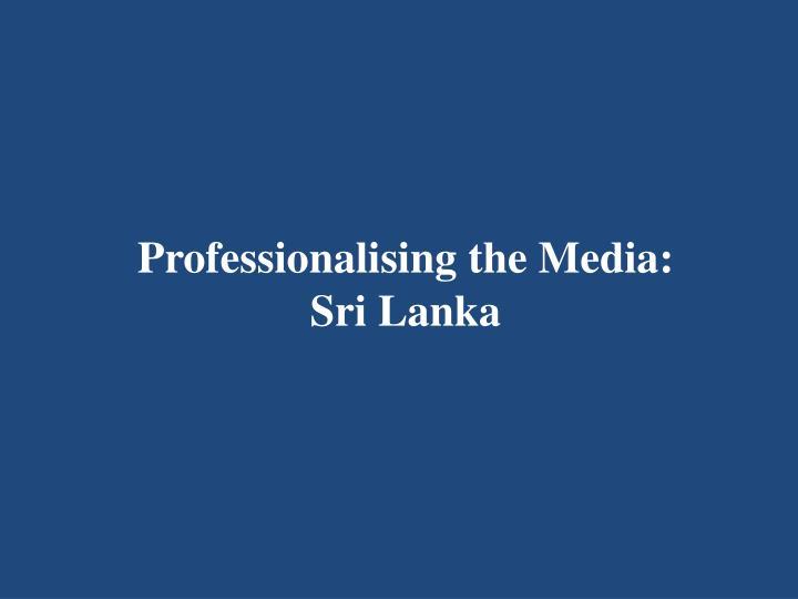 Professionalising