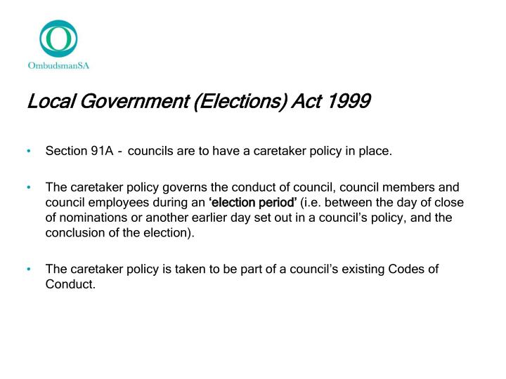 Local Government (Elections) Act 1999
