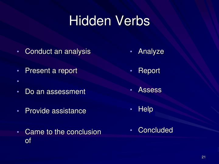 Conduct an analysis