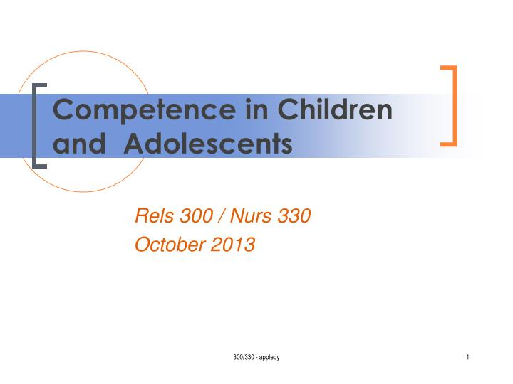 competence in children and adolescents n.
