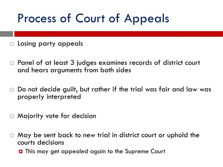 Process of Court of Appeals