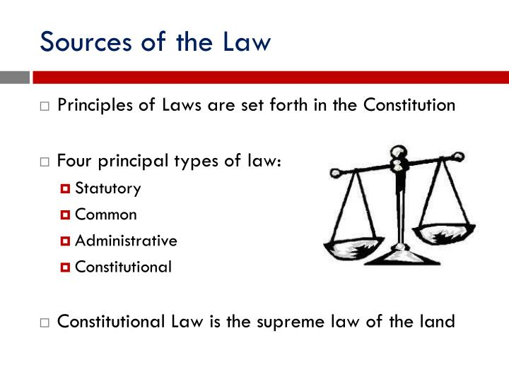Sources of the Law