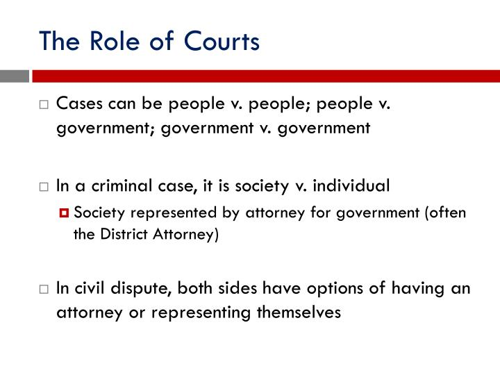 The Role of Courts