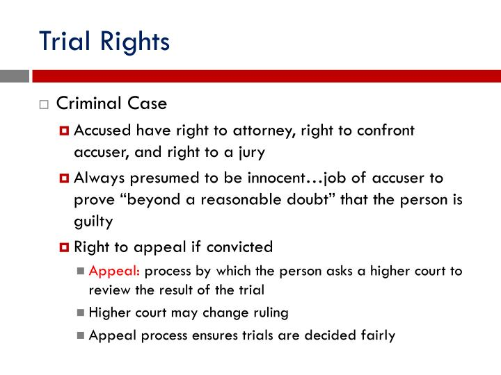 Trial Rights