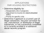 applications fair housing restrictions1