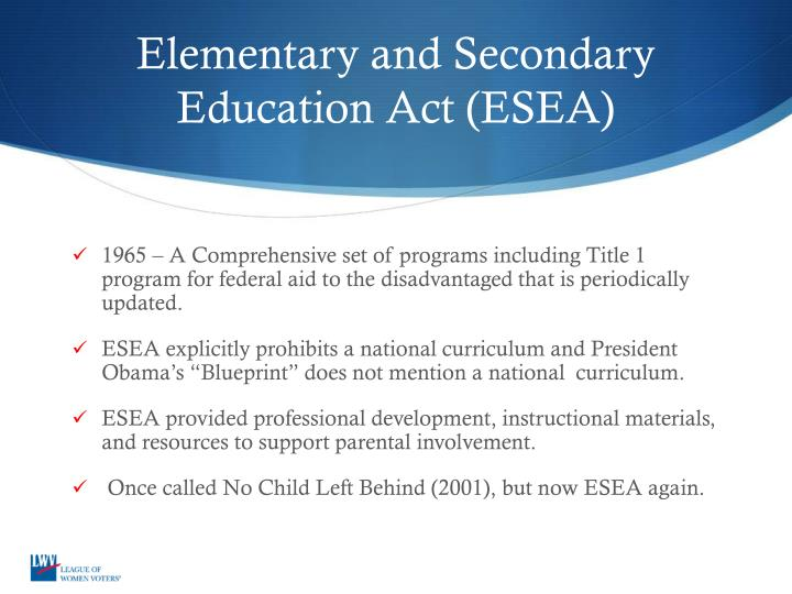 the objectives and impact of the federal government act no child left behind It will also set annual progress objectives  - no child left behind act  the nclb emphasizes accountability and abiding by policies set by the federal government.