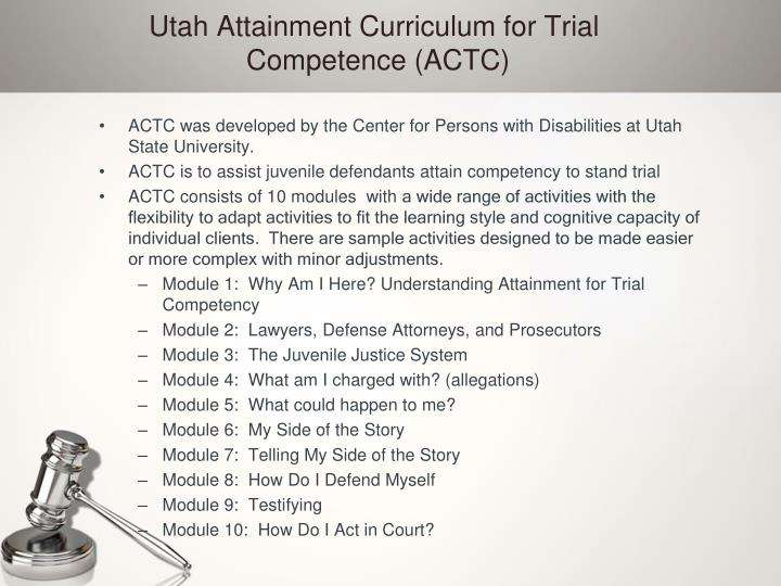 juvenile competency to stand trial A case vignette the following case vignette from the files of one of the authors demonstrates the issue of a child who was deemed not competent to stand trial simply.