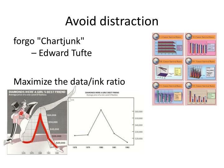 Avoid distraction